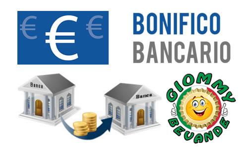 Metodo di Pagamento tramite Bonifico Bancario - Giommy Bevande