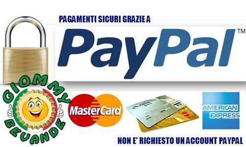 Metodo di Pagamento tramite PayPal - Giommy Bevande