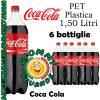 Coca Cola Bibita Gassata 6 Bottiglie di Pet Plastica da 1.50 Litri Giommy Bevande