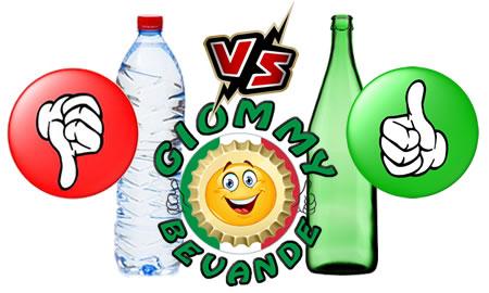 Differenza tra Bottiglia di Vetro e Plastica Giommy Bevande