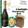 Chardonnay Brut Spumante 6 Bottiglie di Vetro da 75 Centilitri Giommy Bevande