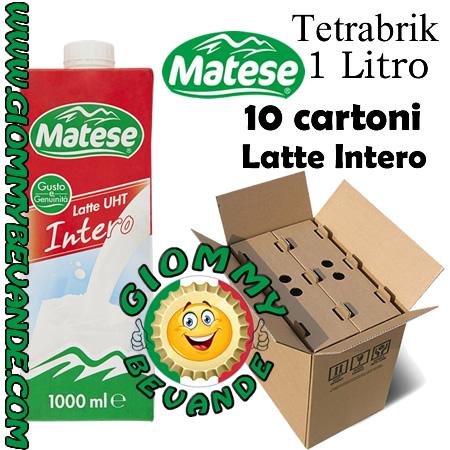Matese Latte Intero 10 TetraBrik da 1 Litro Giommy Bevande