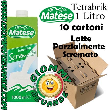 Matese Latte Parzialmente Scremato 10 TetraBrik da 1 Litro Giommy Bevande