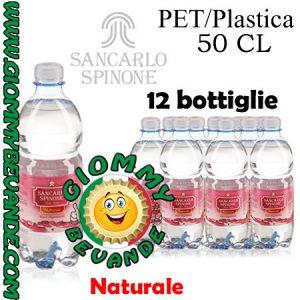 SanCarlo Spinone Acqua Naturale 12 Bottiglie di Pet Plastica da 50 Centilitri Giommy Bevande