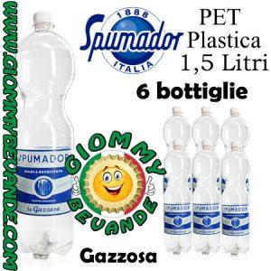 Spumador Gazzosa Bibita Gassata 6 Bottiglie di Pet Plastica da 1.5 Litri Giommy Bevande